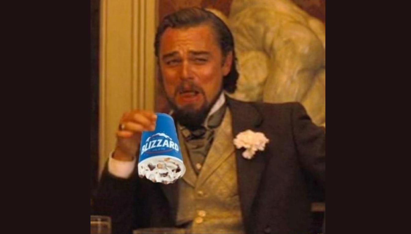 The Leo DiCaprio meme described in the episode.