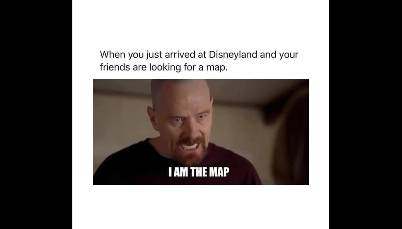 Disneyland map meme described in the episode.