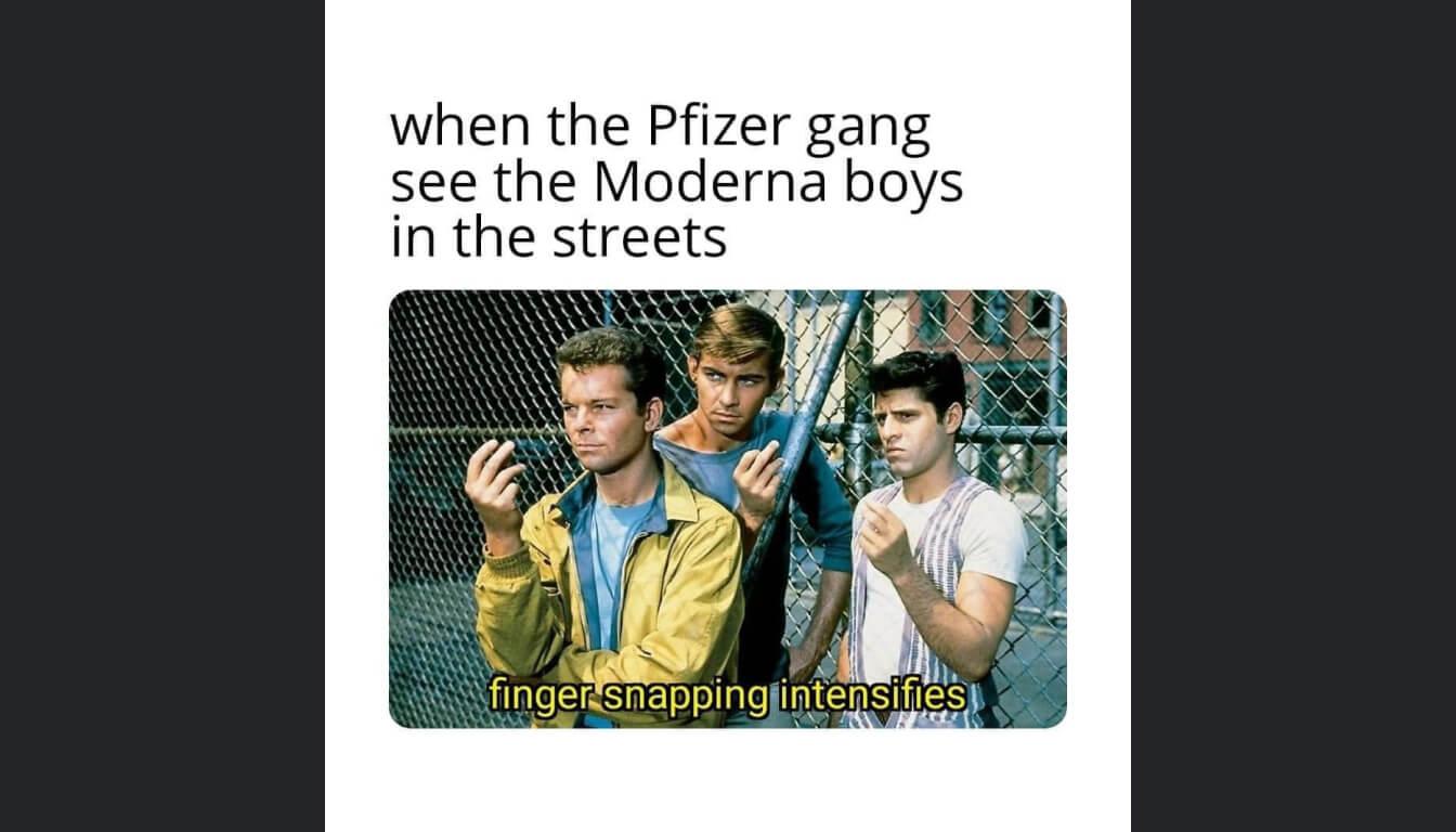 West Side Story meme described in the episode.