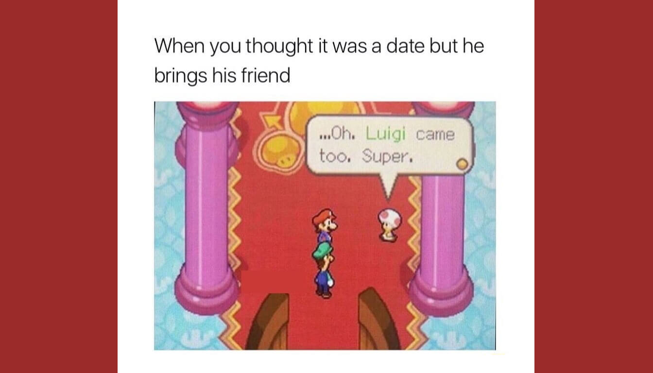 Super Mario meme described in the episode.